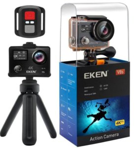 Экшн камера Eken V8S со встроенным стабилизатором