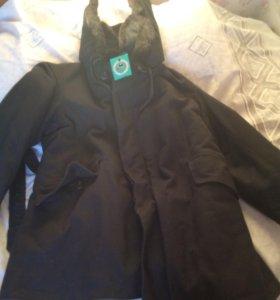 Куртка меховая полярка с капюшоном