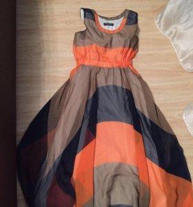 Шикарное шифоновое платье.Италия