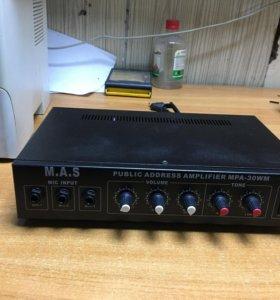 Public address amplifier MPa-30wm
