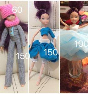 Платья для кукол Винкс и монстр хай