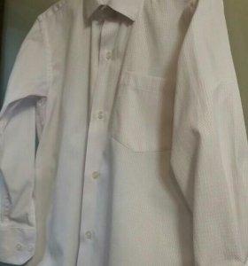 Белая нарядная рубашка для мальчика рост 128