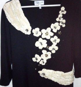Блуза трикотажная 52-54р