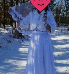 Аренда свадебного платья 42-44 размер.