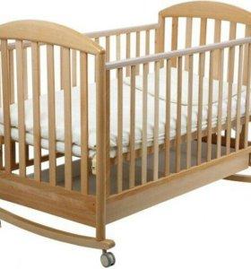 Детская кроватка качалка Papaloni Джованни 125x65