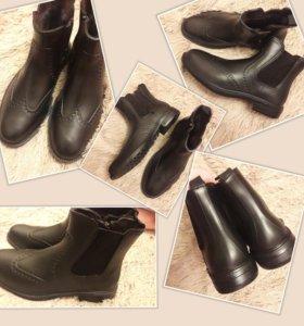 Ботинки резиновые на меху 41р