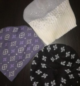 Варежки, перчатки, шапки(цена за все)