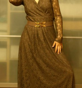 Вечернее платье в пол кружевное
