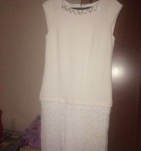 Платье белое вечернее