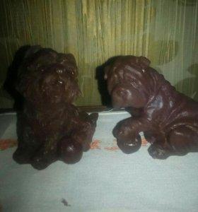 """Подарок мыло ручной работы""""Шоколадные собачки*"""
