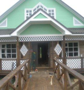 Строительство домов из дерева, фундаменты, ремонт