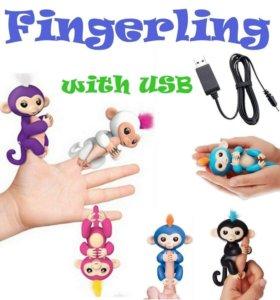 Интерактивная обезъянка fingerlings с USB