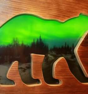 Медведь панно - 2.