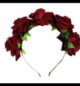 Ободок, розы