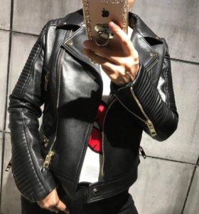 Новая кожаная куртка Burberry