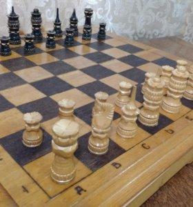 Шахматы /нарды ручной работы,доска 47,5*45,5см