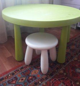 Детский столик и стул для творчества и чаепития