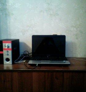Ноутбук + сабик и беспроводная мышка