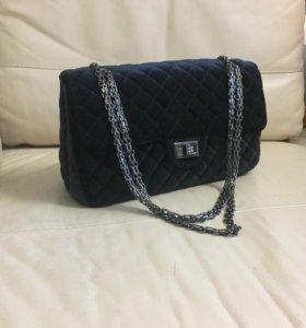 Клатч, сумка бархатная Chanel