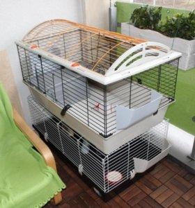 Большие клетки для свинок кроликов италия
