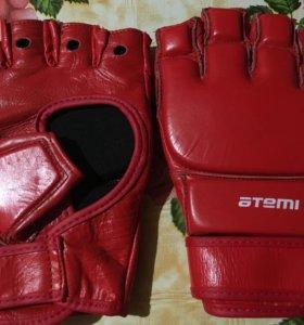 Новые перчатки для ММА (кожа)