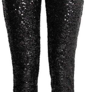 Новые брюки с пайетками H&M,размер 44
