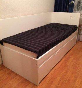 Кровать / двухъярусная ковать с матрасами