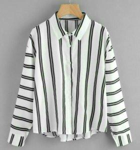 асимметричная рубашка в полоску