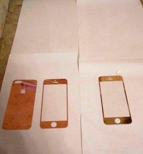 Защитное стекло iphone5,iphone 5+