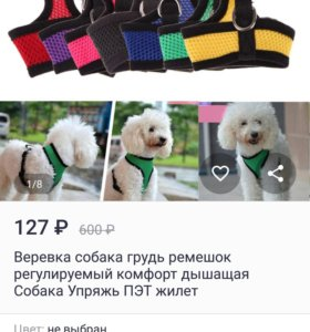 Шлейка для собак и кошек