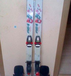 Лыжи горные с ботинками 38р.