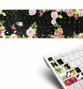 Стильные наклейки на клавиатуру