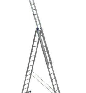 Лестница 3х14 алюминиевая АЛЮМЕТ
