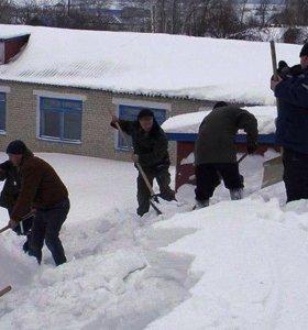 Уборка снега. Разнорабочие. .Земельные работы.