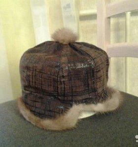 Зимняя шапка с норкой р.54-56