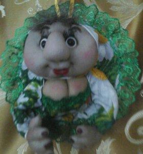 Интерьерная кукла попик ручная работа