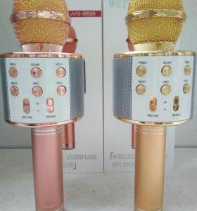 Портативный bluetooth микрофон караоке WS-858