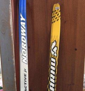 Лыжи пластик новые 160, 170