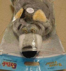 Карнавальный костюм волка 4-8 лет на резинке морда