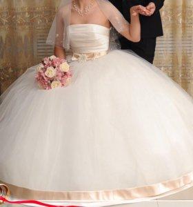 Срочно!!!Свадебное платье+новые туфли