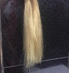 Натуральные волосы на лентах