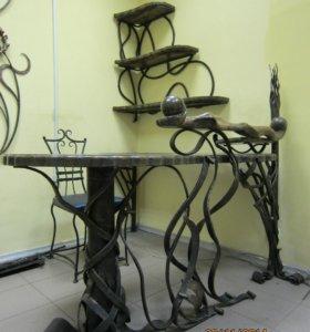 Стол кованный угловой