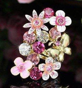 Кольцо Swarovski кристаллы