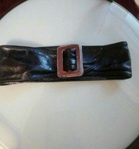 Новый кожаный ремень внутри замша