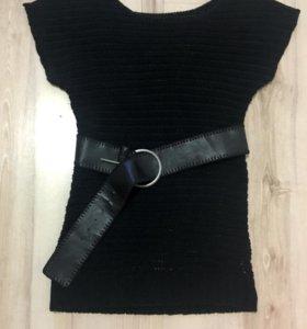Вязанный женский свитер 46-48, туника, жилет