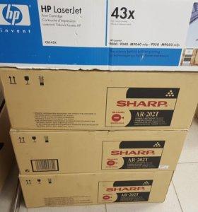 Картридж Sharp AR-202T. картридж HP C8543X (43X)