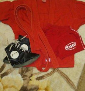 Комплект для самбо (куртка, борцовки, шорты)