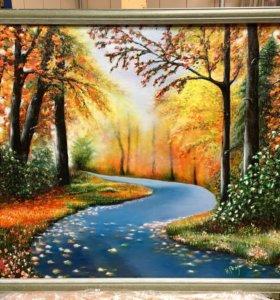 Картина маслом «Осень»
