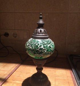 Лампа турецкая мозаика изумруд