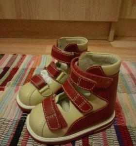 Новые!! Кожаные ботинки ортопедические